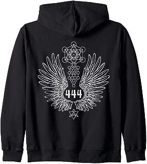 Angel Number 444 Sacred Geometry Healing Zip Hoodie