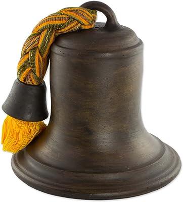 NOVICA Silent Bell Ceramic Sculpture