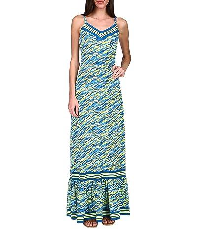 MICHAEL Michael Kors Petite Sixties Wave Maxi Dress