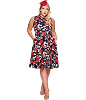 Unique Vintage - Plus Size High Neck Sleeveless Dress