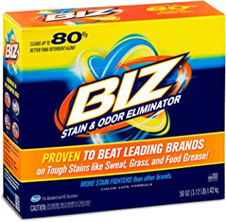 Biz Laundry Detergent Powder Booster, Stain & Odor Removal - 50 Ounces
