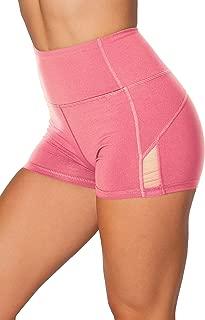 High Waist Athletic Yoga Shorts Tummy Control Workout...