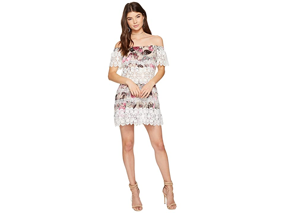 For Love and Lemons Cadence Off the Shoulder Dress (Pink Floral) Women