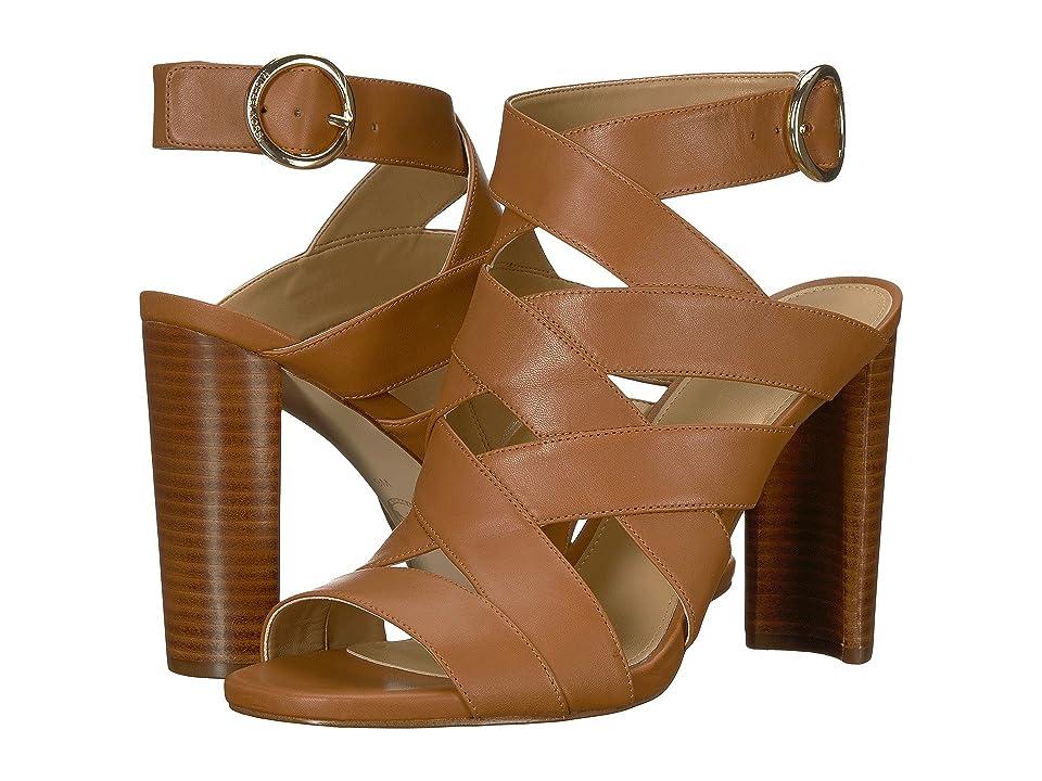MICHAEL Michael Kors Alana Sandal (Acorn Vachetta) High Heels