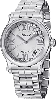 Chopard Happy Sport Round Ladies Stainless Steel Diamond Automatic Watch 278559-3002