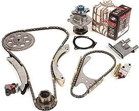 Evergreen TK10428DWP 02-08 Buick Chevrolet GMC Hummer Isuzu Oldsmobile 2.8 2.9 3.5 4.2 DOHC Timing Chain Kit Water Pump (with Gear)