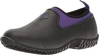 Muck Boot Women's Muckster 2 Low Rain Boot, Black/Purple, 10 US/10 M US