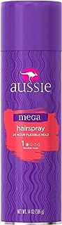 Aussie Mega Hair Spray, Flexible Hold, 14 oz (396 g) Bottles, Case of 4