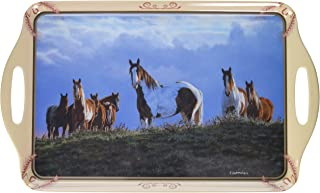 Motorhead Products 11 by 18-Inch Melamine Serving Tray, Featuring Wild Wings Licensed Art with Horses by Chris Cummings