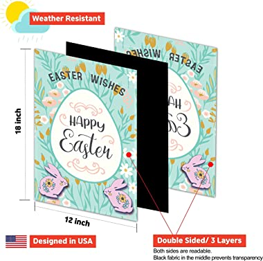 Lovely Flag Garden Flag Set - Pack of 12 Colorful Holiday Outdoor Flags - Double Stitched, Three Layers, Double-Sided Print -