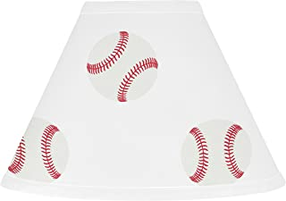 Sweet Jojo Designs Red and White Lamp Shade for Baseball Patch Sports Collection