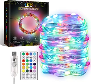 ALOVECO LED Fairy String Lights, 33FT 100 LED 16 Color Changing Fairy Lights 12 Modes with Remote, RGB Twinkle String Ligh...