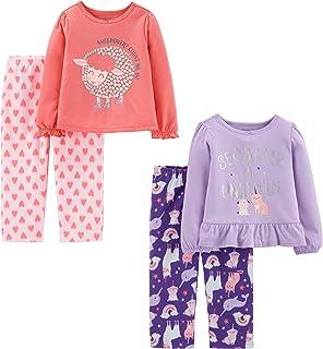 Simple Joys by Carter's Conjunto de Pijama de 4 Piezas (Parte Superior de poliéster y Parte Inferior de vellón) Juego de P...