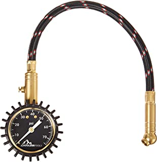 Boulder Tools Tire Pressure Gauge (75 PSI) for Car, Automobiles, Bikes & Bicycles - Battery Free Hand Held Tire Cobra Chuc...