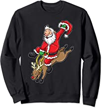 Cowboy Santa Sweatshirt Reindeer Rodeo Christmas In Texas