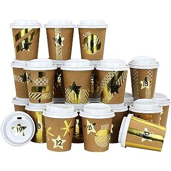 Tasse /à caf/é DIY pour Calendrier de lAvent /Àcr/éer et remplir soi-m/ême 24 Tasses /à caf/é Brun-Or