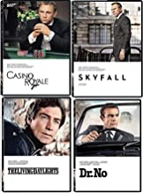 Living 007 Sean Connery Dr. No Original James Bond DVD + Daniel Craig Skyfall& Casino Royale + Timothy Dalton Daylights 4 feature Films