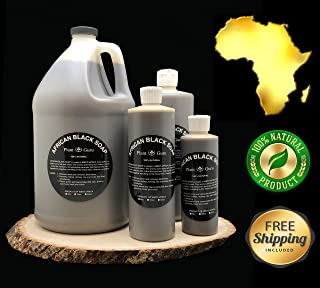 African Black Soap Liquid 8 oz. 100% Raw Pure Natural From Ghana, Acne Treatment, Aids Against Eczema & Psoriasis, Dry Skin, Scar and Dark spot Removal, Pimples and Blackhead, Face & Body Wash