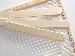 Weaving Shed Stick for Loom Sustainable Pick Up Sticks Weaving Tools Set of 3 from 7 to 40 inches