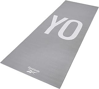 Reebok Rayg-11030Yg Double Sided Yoga Mat, Gray - 4 Mm, Multi Color