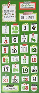 me & my BIG ideas Mambi Sticks Stickers, Washi Christmas Numbers