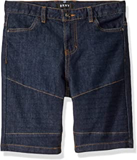 DKNY Boys V80342DB Moto Denim Short Shorts - Blue