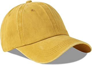 Juenier Unisex Cotton Low Profile Plain Classic Retro Dad Hat Washed Baseball Hat Adjustable Baseball Cap for Men and Women