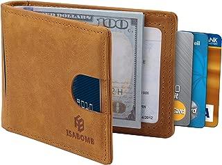 RFID Blocking Wallets for Men - Genuine Leather Thin Minimalist Front Pocket Money Clip with Elegant Box