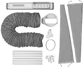AEG 900 923 219 Accesorio ideal para aire acondicionado portátil, instalación rápida, bloqueo estable, extensible, apto para manguera de 15 cm de diámetro, color gris y blanco