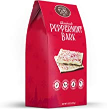 Sponsored Ad - Proudly Pure Peppermint Bark White & Dark Christmas Chocolate Layers Squares Snack Topped w/Pieces of Crush...