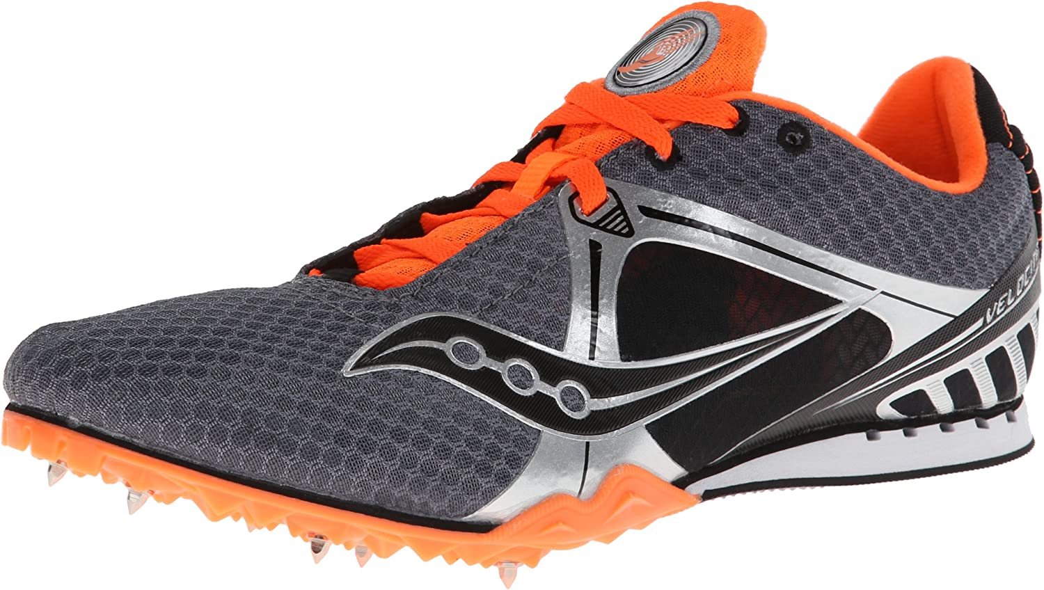 Saucony Men's Velocity Track shoes,Grey orange,13 M US