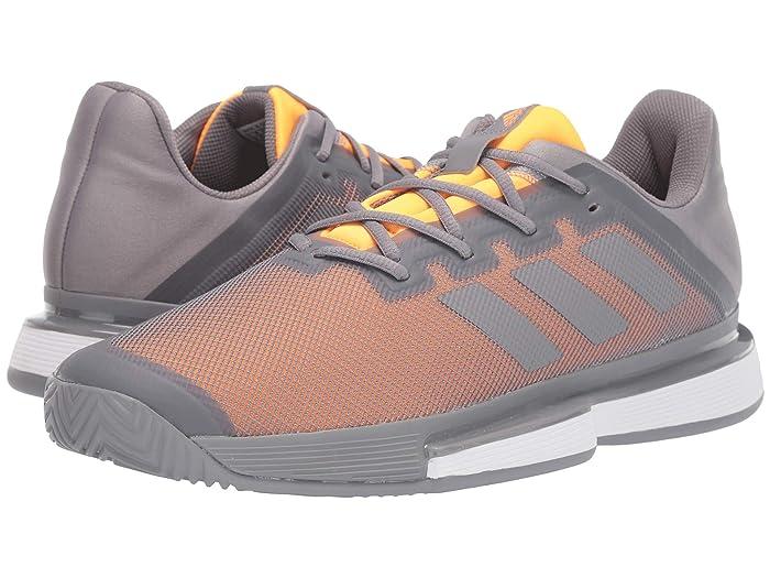 adidas  SoleMatch Bounce (Grey Three F17/Grey Three F17/Flash Orange) Mens Tennis Shoes