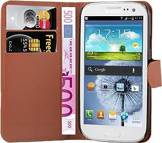 Cadorabo Fodral kompatibelt med Samsung Galaxy S3 MINI i CHOKLAD BRUN - Skyddsfodral med Magnetfäste, Stativfunktion och K...