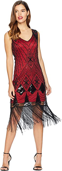 Sequin Lina Fringe Flapper Dress