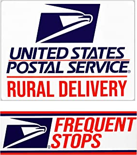 """Rural Delivery Magnetic Sign for U.S. Mail, 9"""" x 12"""" with Frequent Stops Magnet, 3"""" x 12"""" included"""