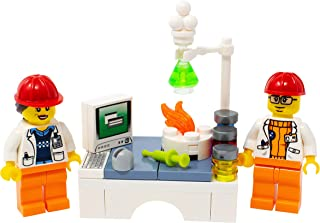 LEGO Male and Female Chemists in Lab - Custom Chemistry Scientists Minifigures