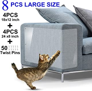IN HAND Furniture Scratch Guards, X-Large Premium Flexible Vinyl Cat Couch Protector Guards with Pins for Protecting Your Upholstered Furniture, Cat Scratch Deterrent Pad, 18