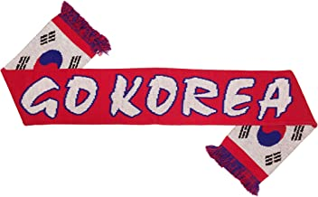 RUFFNECK National Soccer Team Korea National Team Scarves, Red, One Size