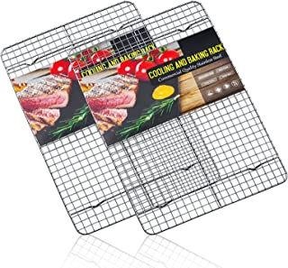 Estmoon Cooling Rack Stainless Steel, Cooling Racks for Baking, 16.5 Inch Cooling Rack Oven Safe,Heavy Duty Wire Rack Set ...