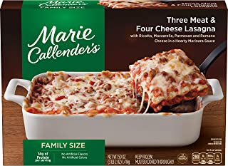 Marie Callender's Comfort Bakes Multi-Serve Frozen Dinner, Three Meat & Four Cheese Lasagna, 50 Ounce