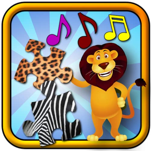 Children`s Animal Jigsaw Puzzles - educational young kids game teaches shapes and matching suitable for toddler and pre school boys and girls 3 +