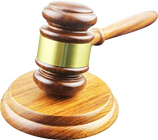 Apexstone Wooden Gavel and Block for Lawyer Judge Auction Sale