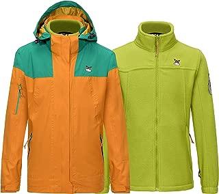 Boys' Girls' 3-in-1 Winter Interchange Ski Jacket Fleece Lined Shell Coats, Waterproof & Windproof