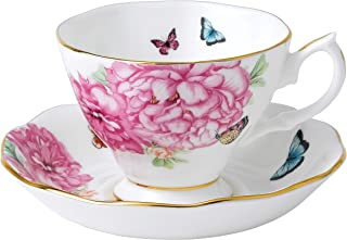 Royal Albert FBA_ Teacup and Tea Saucer, 6.5 oz, Multicolored