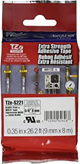 Brother Genuine P-Touch TZE-221 Tape, Extra Strength 6mm, 1/4