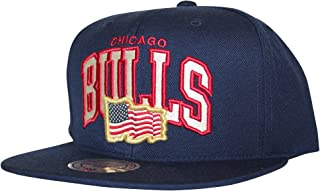 Mitchell & Ness Men's NBA Arched USA Flag Snapback Cap