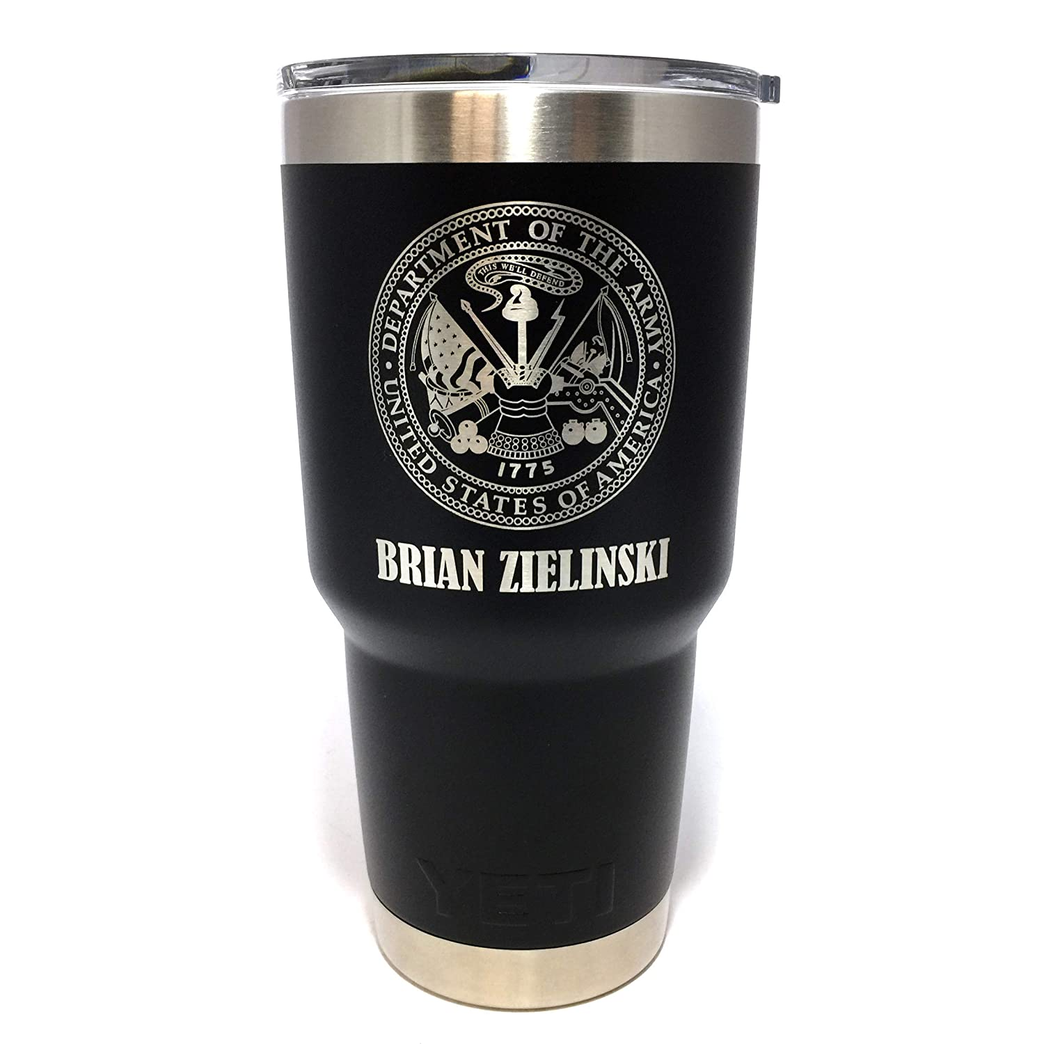 YETI Tumbler 35% OFF SALENEW very popular! w US Army Seal Engraved and S Stainless Name Laser