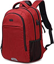 Abshoo Travel Laptop Backpack Computer Anti Theft Multi Pocket Laptops Backpack with USB Charging Port Water Resistant Col...