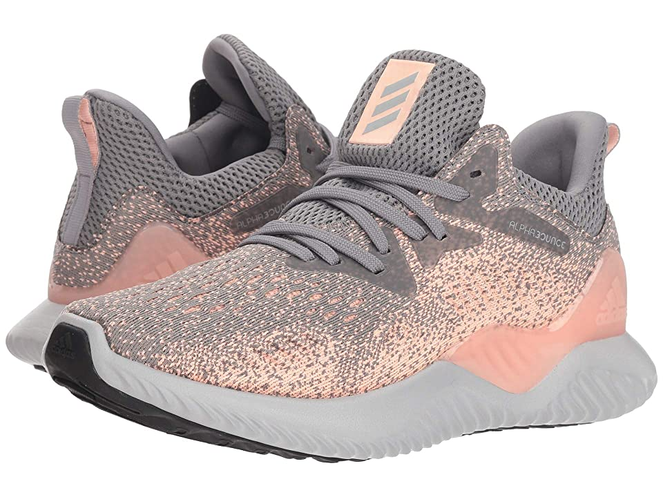 adidas Kids Alphabounce Beyond (Big Kid) (Grey/Magenta) Girls Shoes