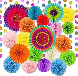 3 Tailles FETE Papier Tissu Pompons Fleur Bal Mariage Fête D/'Anniversaire Décoration